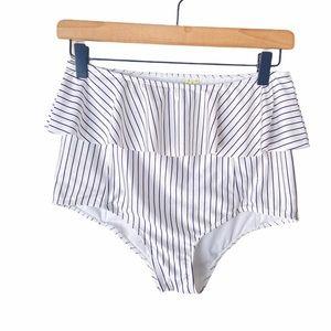 Kortni Jeane peplum striped swim bottom Medium